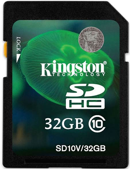 Карта памяти Kingston SDHC 32Gb Class 10 (SD10V/32GB) фото