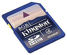����� ������ Kingston SDHC Class 4 8GB SD4/8GB