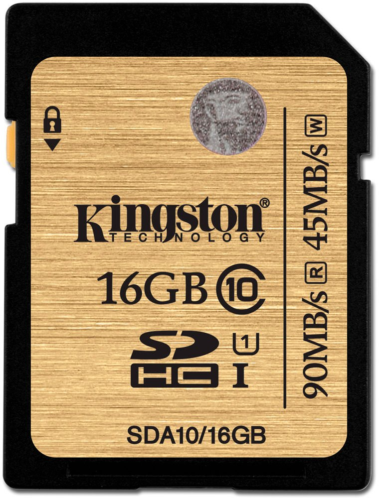 Карта памяти Kingston SDHC Ultimate 16Gb Class 10 UHS-I (SDA10/16GB) фото