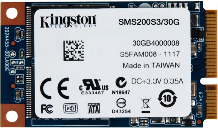 Жесткий диск SSD Kingston SSDNow mS200 (SMS200S3/30G) 30 Gb фото