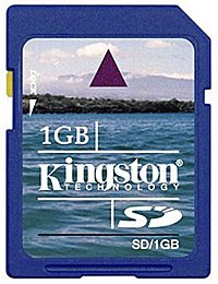Карта памяти Kingston Standard Secure Digital Card 1GB SD/1GB