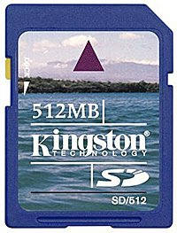 Карта памяти Kingston Standard Secure Digital Card 512MB SD/512