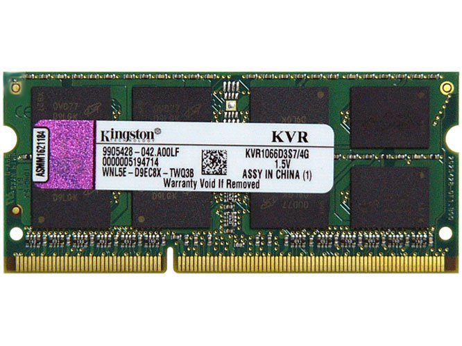 Модуль памяти Kingston ValueRAM KVR1066D3S7/4G DDR3 PC3-8500 4Gb