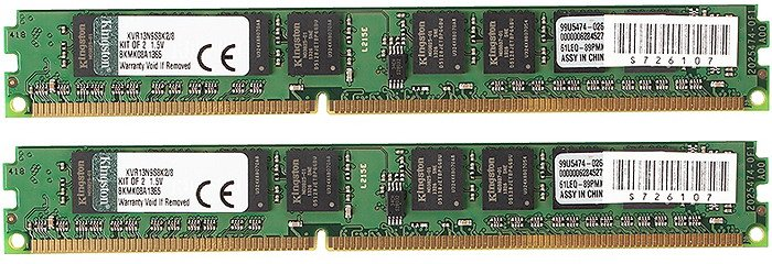 Комплект памяти Kingston ValueRAM KVR13N9S8K2/8 DDR3 PC3-10600 2x4Gb