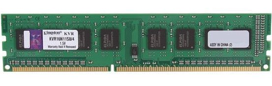Модуль памяти Kingston ValueRAM KVR16N11S8/4 DDR3 PC12800 4Gb фото
