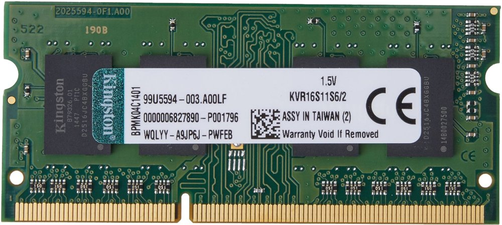 Модуль памяти Kingston ValueRAM KVR16S11S6/2 DDR3 PC3-12800 2Gb фото