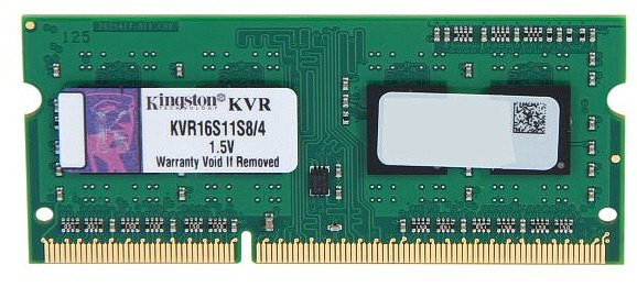 Модуль памяти Kingston ValueRAM KVR16S11S8/4 DDR3 PC12800 4Gb