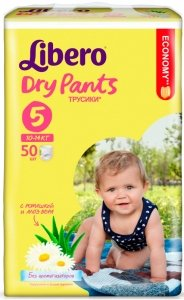 Трусики Libero Dry Pants Maxi Plus 5 (10-14 кг) 50 шт
