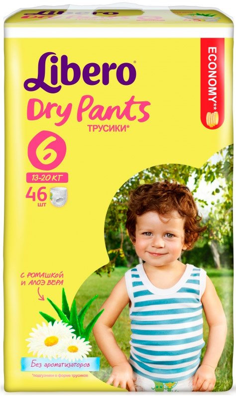 Трусики Libero Dry Pants XL 6 (13-20 кг) 46 шт