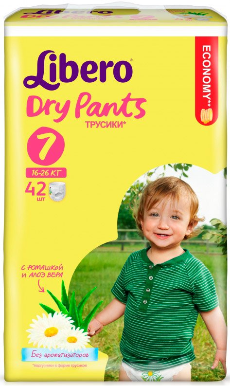 Трусики Libero Dry Pants XL Plus 7 (16-26 кг) 42 шт