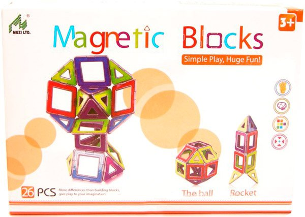 Конструктор Magnetic Blocks 1012 (26 деталей)
