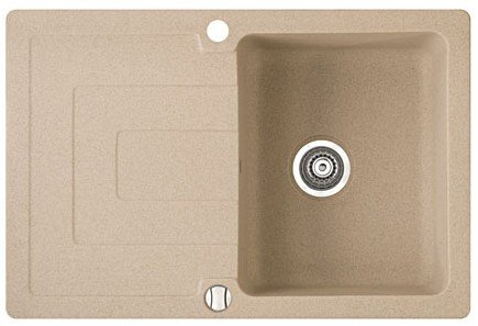 Мойка кухонная MARMORIN STEN 1 bowl sink with draining board
