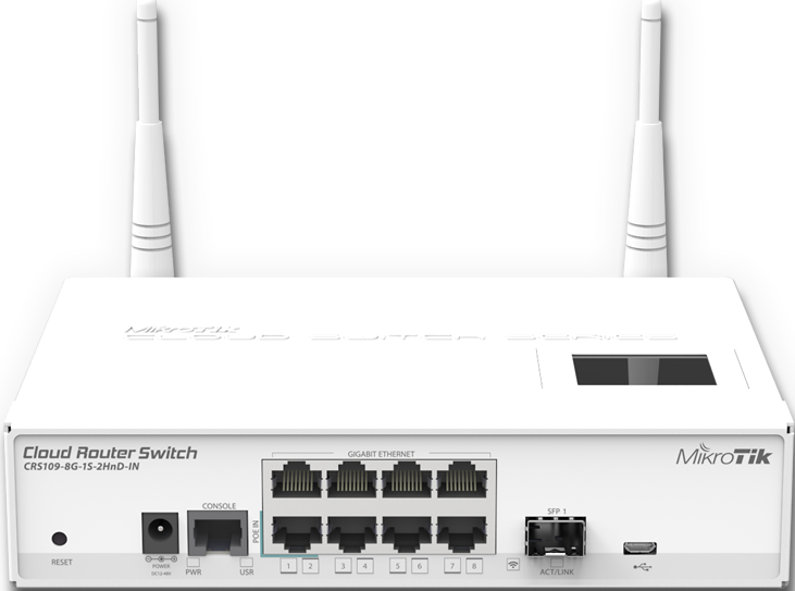 Коммутатор Mikrotik Cloud Router Switch CRS109-8G-1S-2HnD-IN