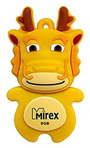 USB-флэш накопитель Mirex DRAGON YELLOW 8GB (13600-KIDDRY08)