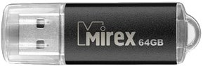 USB-флэш накопитель Mirex UNIT BLACK 64GB (13600-FMUUND64)