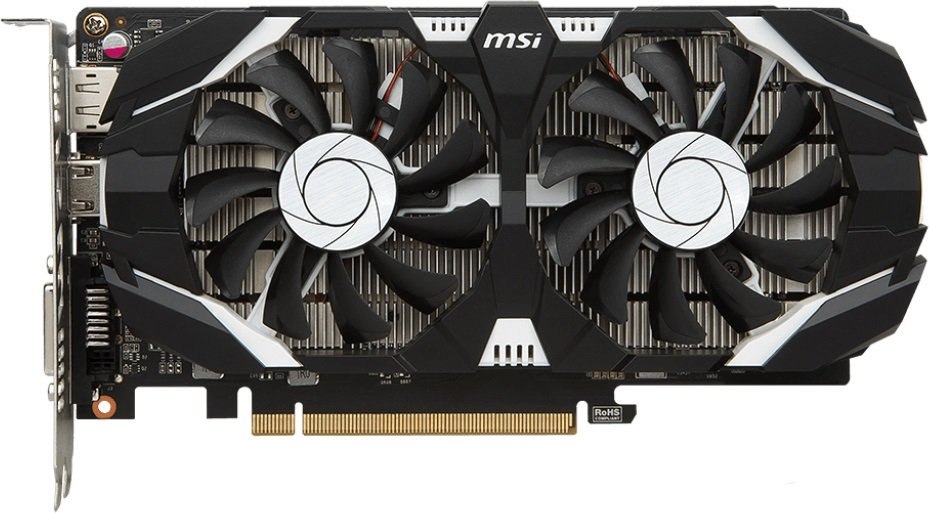 Видеокарта MSI GTX 1050 2GT OC GeForce GTX 1050 2Gb GDDR5 128bit