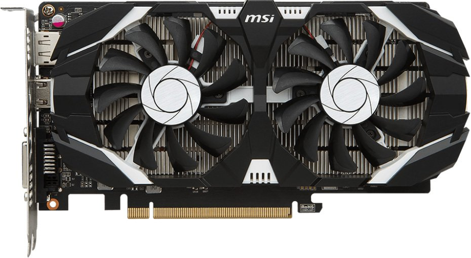 Видеокарта MSI GTX 1050 2GT OCV1 GeForce GTX 1050 2Gb GDDR5 128bit фото