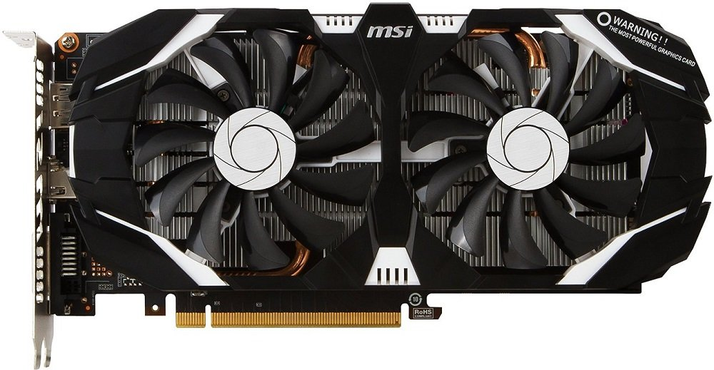 Видеокарта MSI GTX 1060 3GT OC GeForce GTX 1060 3Gb GDDR5 192bit