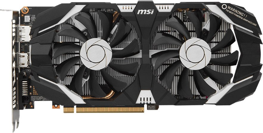 Видеокарта MSI GTX 1060 6GT OCV1 GeForce GTX 1060 6Gb GDDR5 192bit