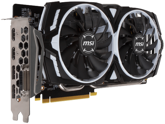 Видеокарта MSI GTX 1060 Armor 6G OCV1 GeForce GTX 1060 6Gb DDR5 192bit  фото