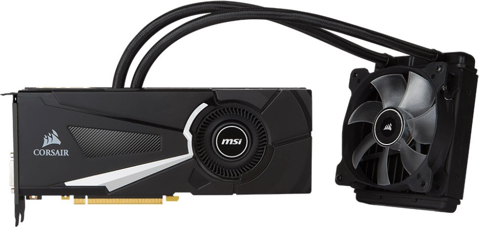 Видеокарта MSI GTX 1080 Sea Hawk GeForce GTX 1080 8Gb GDDR5X 256bit