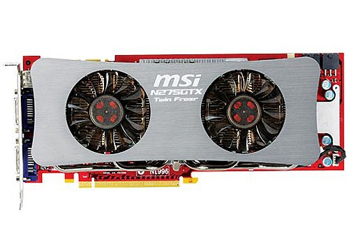 Видеокарта MSI N275GTX Twin Frozr OC GeForce GTX 275 896Mb 448bit