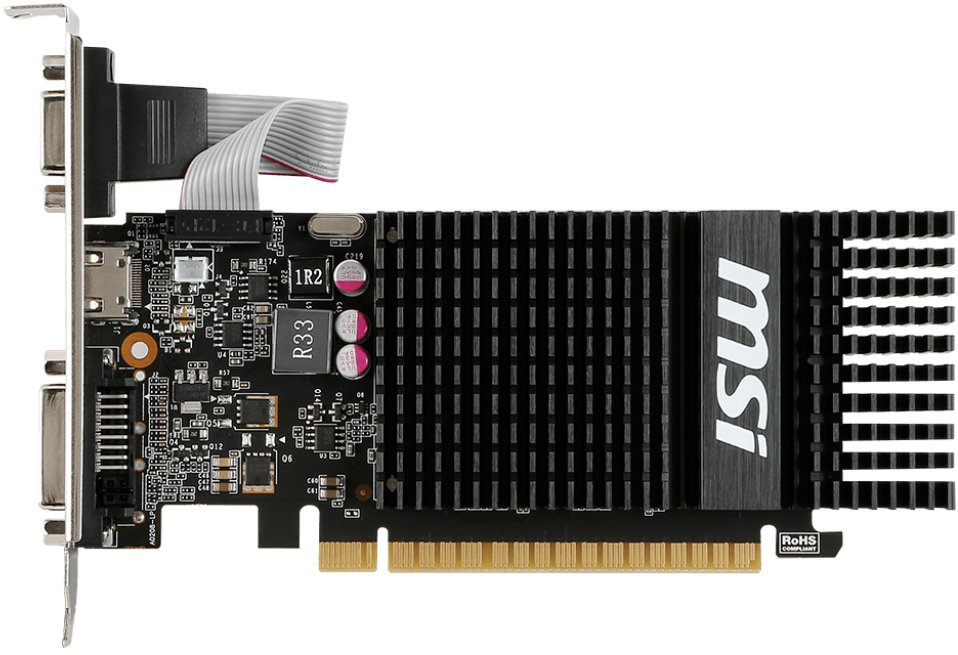 Видеокарта MSI N720-1GD3HLP GeForce GT 720 1Gb GDDR3 64bit фото