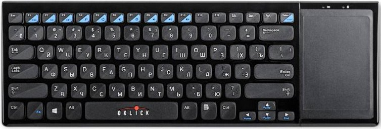 Клавиатура Oklick 850ST Wireless Ultraslim Keyboard with Touchpad