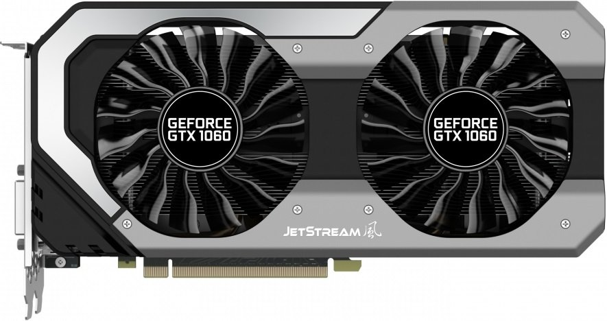 Видеокарта Palit NE51060015F9-1060J GeForce GTX 1060 JetStream 3Gb GDDR5 192bit фото