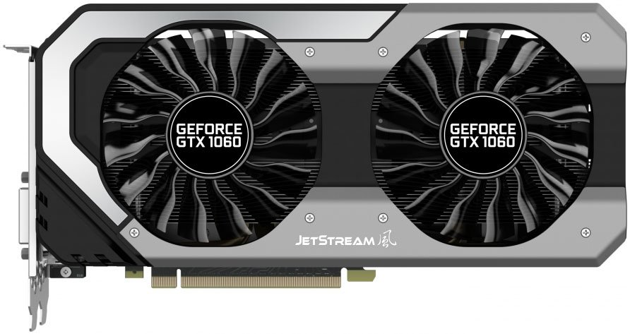 Видеокарта Palit NE51060015J9-1060J GeForce GTX 1060 JetStream 6Gb GDDR5 192bit