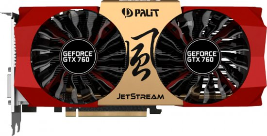 Видеокарта Palit NE5X760010G2-1042J GeForce GTX 760 JETSTREAM 4GB DDR5 256bit