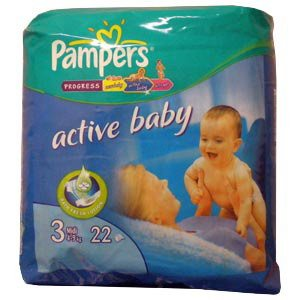 Подгузники Pampers Active Baby 3 Midi (4-9 кг) 22 шт