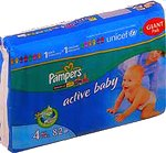 Подгузники Pampers Active Baby 4 Maxi (7-18 кг) Giant Pack 82 шт