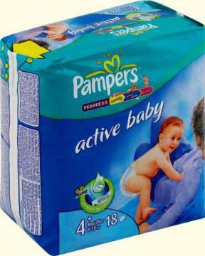 Подгузники Pampers Active Baby 4+ Maxi Pluse (9-20 кг) 18 шт