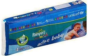 Подгузники Pampers Active Baby 4+ Maxi Pluse (9-20 кг) 48 шт
