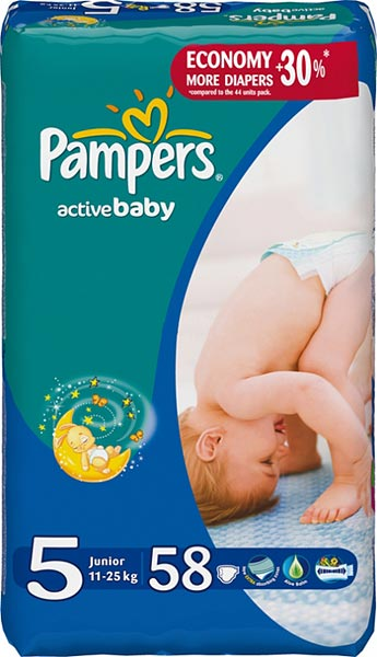 Подгузники Pampers Active Baby 5 Junior (11-25 кг) 58 шт