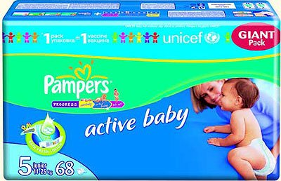 Подгузники Pampers Active Baby 5 Junior (11-25 кг) Giant Pack 68 шт