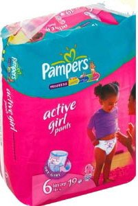 Трусики Pampers Active Girl 6 Extra Large (16+ кг) 19 шт