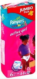 Трусики Pampers Active Girl Extra Large (16+ кг) 44 шт