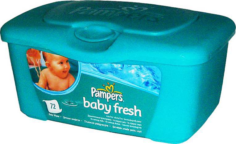 ������� ������� �������� Pampers baby fresh � ����������� ����������, 72 ��