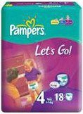 ������� Pampers Let's Go 4 Maxi (7-18 ��) 18 ��