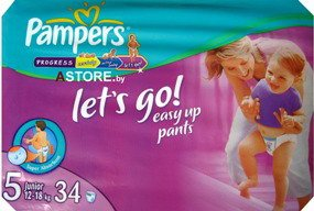 Трусики Pampers Let's Go 5 Junior (12-25 кг) 34 шт