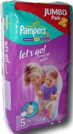 Трусики Pampers Let's Go 5 Junior (12-25 кг) Jumbo Pack 50 шт