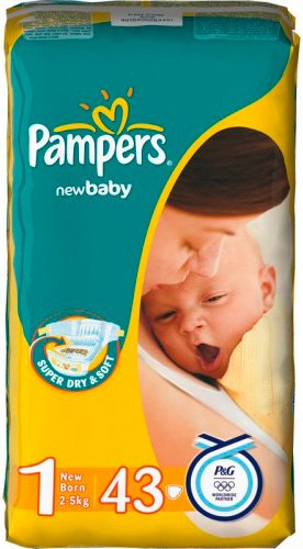 Подгузники Pampers New Baby 1 Newborn (2-5 кг) 43 шт