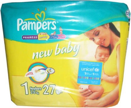 Подгузники Pampers New Baby 1 Newborn (2-5 кг) 27 шт