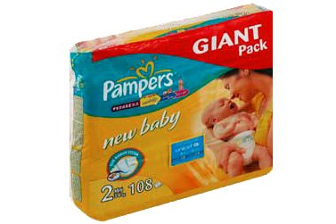Подгузники Pampers New Baby 2 Mini (3-6 кг) Giant Pack 108 шт