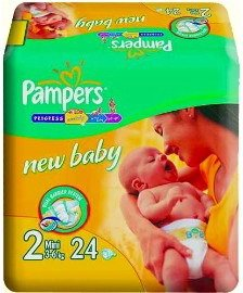 Подгузники Pampers New Baby 2 Mini (3-6 кг) 24 шт