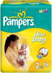 Подгузники Pampers New Baby 2 Mini (3-6 кг) 78 шт