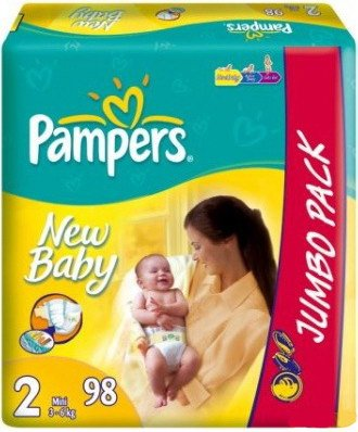 ���������� Pampers New Baby 2 Mini (3-6 ��) Jumbo Pack 98 ��