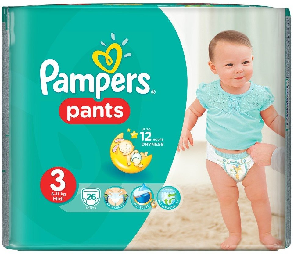 Трусики Pampers Pants 3 Midi (6-11 кг) 26 шт